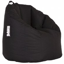 Snug black bean bag