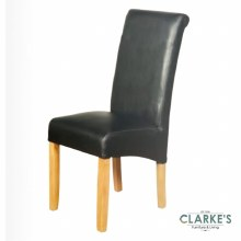 Sofia Leather Air Dining Chair Black