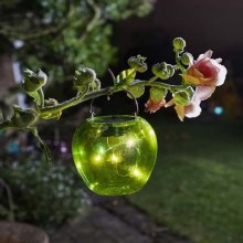Solar Garden Green Funky Apple Light