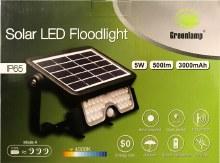 Greenlamp 5W LED Solar Floodlight with PIR Sensor