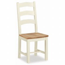 Suffolk white dining chair