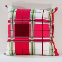 Summer Check Multi Pink Cushion