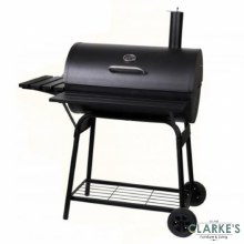 Barrel Charcoal Barbecue Grill with Lid
