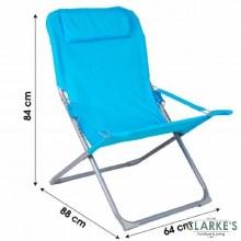 Oxford Folding Garden - Camping Chair Blue