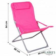 Oxford Folding Garden - Camping Chair Fushia