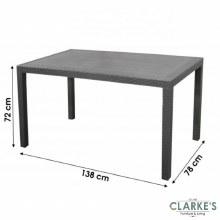 DAMAGED | Ratan Effect Garden Table 134cm