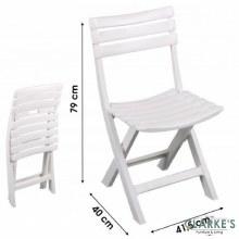 Folding Plastic Garden Chair White