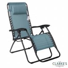 Zero Gravity Sun Lounger Garden Chair Turquoise