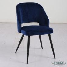 Sutton navy velvet dining chair