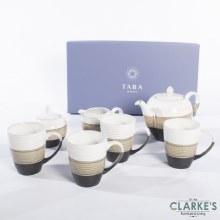 Tara Asker 7 Piece Mugs Set Reactive Grey