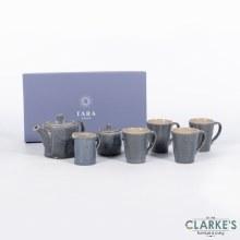 Tara Dune 7 Piece Mugs Set Midnight Blue