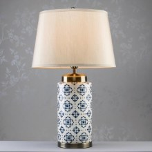 Grace Ceramic Cylinder Table Lamp