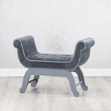 Smooth Velvet Grey Love Seat