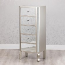 Reflection 5 Drawers Mirrored Tallboy