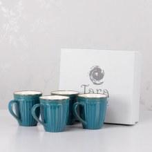 Tara Pottery Mug Set Teal