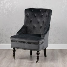 Torino Accent Chair  Charcoal