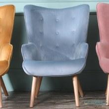 Taylor blue velvet accent chair