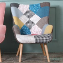 Taylor patched accent chair