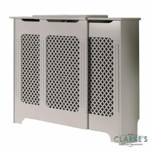 Classic White Adjustable Radiator Cover Large
