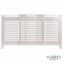 Contemporary White Adjustable Radiator Cover Large