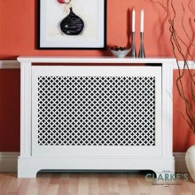 Georgian White Radiator Cover Large