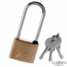 Tessi Long Shackle Premium Brass Padlock 50mm