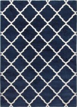 Toscana Lattice Rug Blue