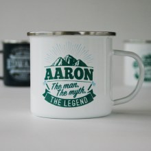 Top Bloke Enamel Aaron Mug
