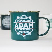 Top Bloke Enamel Adam Mug