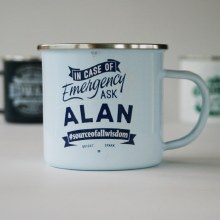 Top Bloke Enamel Alan Mug