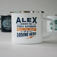 Top Bloke Enamel Alex Mug
