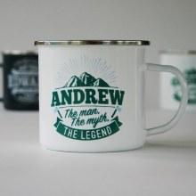 Top Bloke Enamel Andrew Mug
