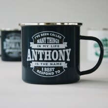Top Bloke Enamel Anthony Mug