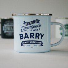 Top Bloke Enamel Barry Mug