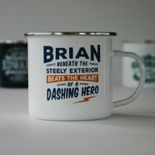 Top Bloke Enamel Brian Mug
