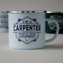 Top Bloke Enamel Carpenter Mug
