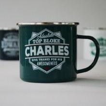 Top Bloke Enamel Charles Mug