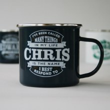 Top Bloke Enamel Chris Mug