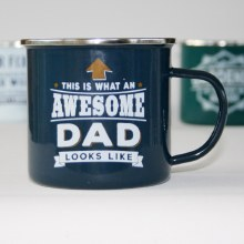 Top Bloke Enamel Dad Mug