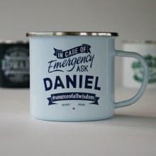 Top Bloke Enamel Daniel Mug