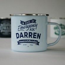 Top Bloke Enamel Darren Mug