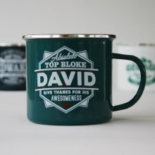 Top Bloke Enamel David Mug