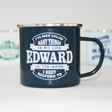 Top Bloke Enamel Edward Mug