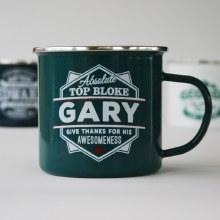 Top Bloke Enamel Gary Mug