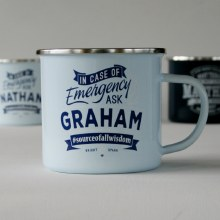 Top Bloke Enamel Graham Mug