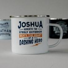 Top Bloke Enamel Joshua Mug