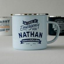 Top Bloke Enamel Nathan Mug