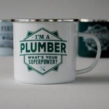Top Bloke Enamel Plumber Mug