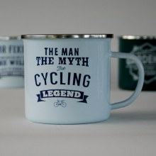 Top Bloke Enamel Cycling Mug