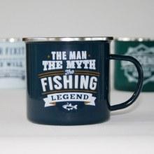Top Bloke Enamel Fishing Mug